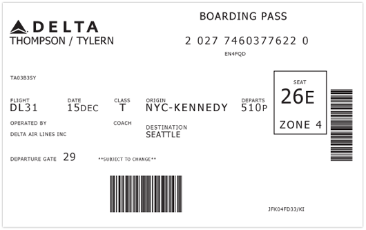 Redesigning The Boarding Pass Shelby White The Blog Of