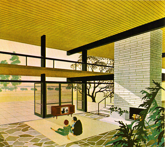 The illustration of mid century modern shelby white the blog of artist visual designer and - Fantastic modern architecture in futuristic design with owner passion ...