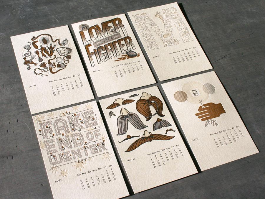 Calendar Design Rules : Studio on fire letterpress calendar giveaway shelby