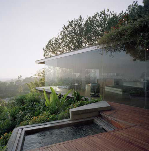 hollywood hills glass wall house shelby white the blog