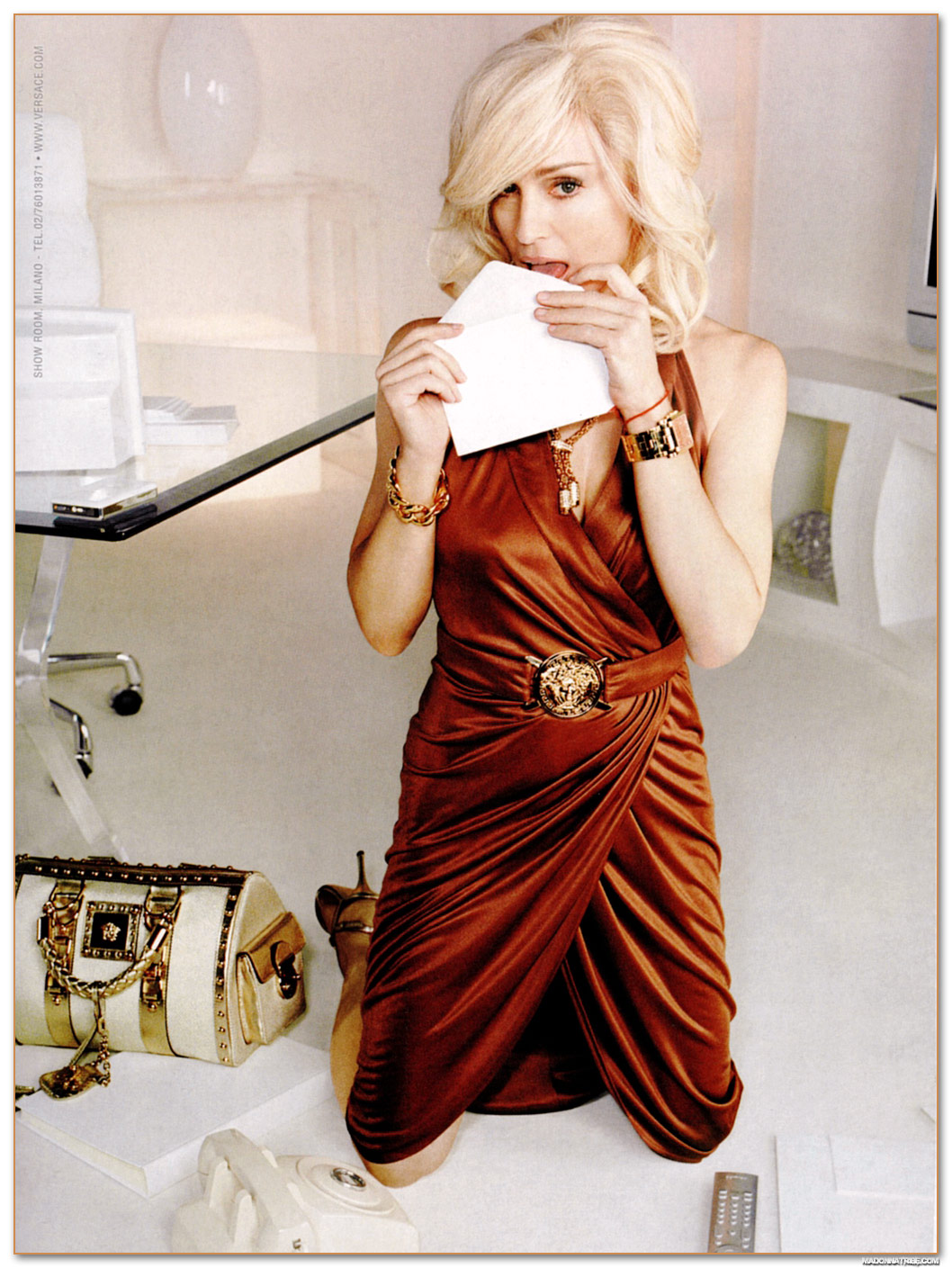 Vintage Versace Madonna Ad Campaign Shelby White The