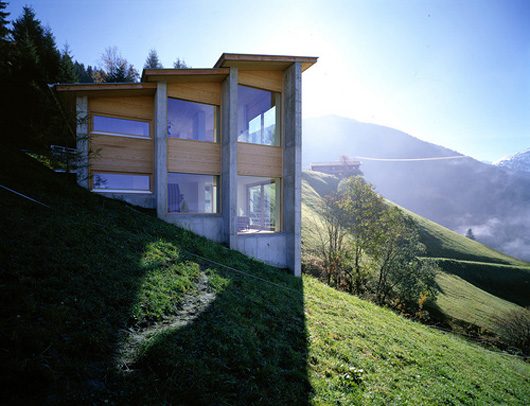 Austrian exposed house on a hill shelby white the blog for House plans on hill slopes