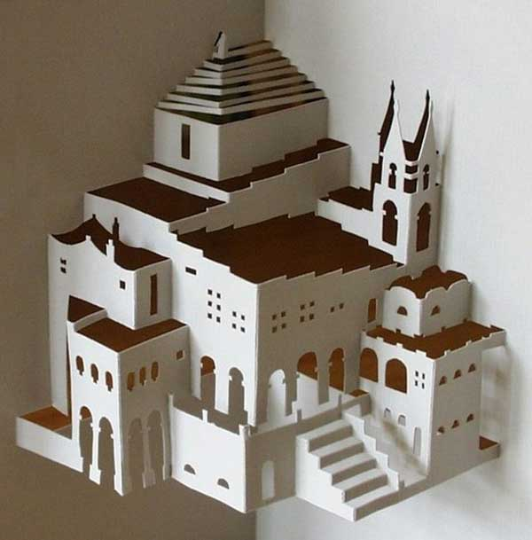 Paper architecture by ingrid siliakus shelby white the for Architecture origami