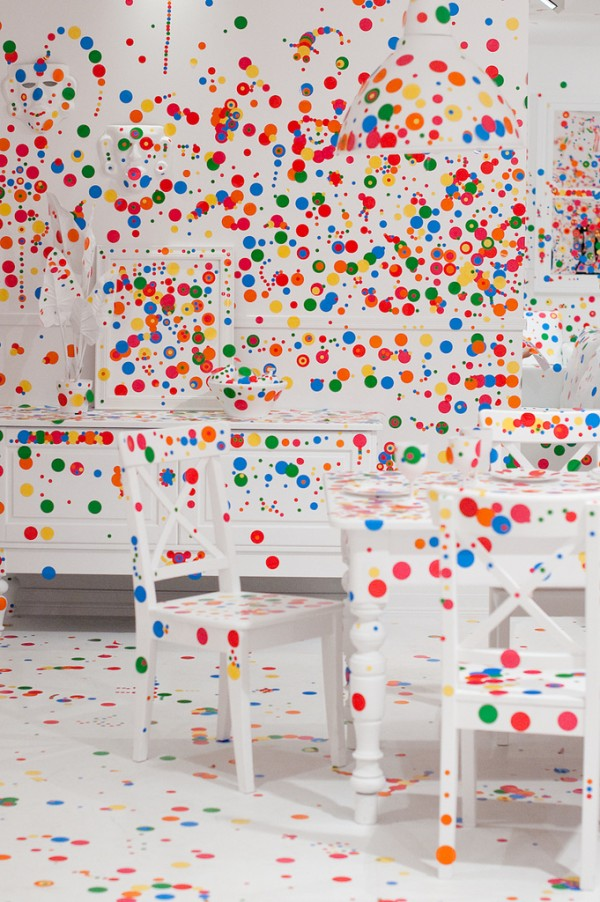 Yayoi Kusama When Kids Are Given Stickers They Do This
