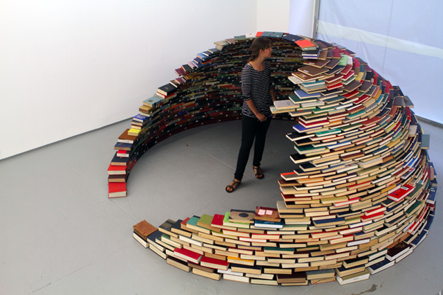 a half dome made of books shelby white the blog of artist
