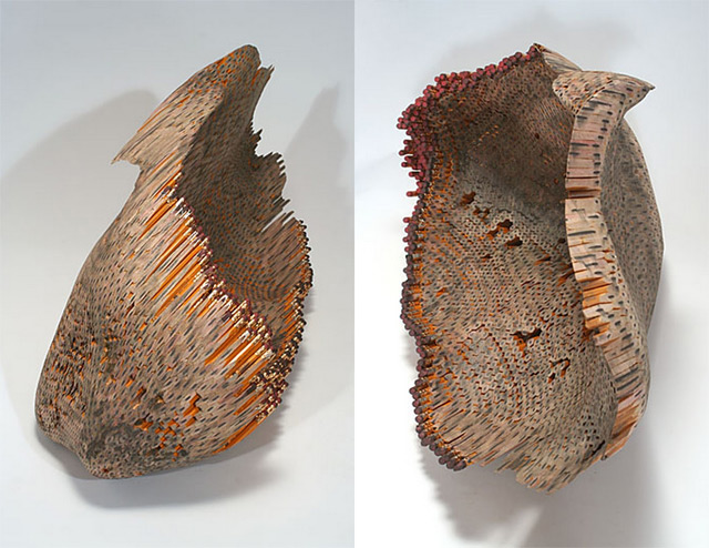 Sculptures made from pencils by jessica drenk shelby