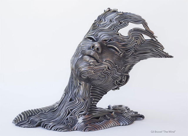 Sculptures Made from Stainless Steel Ribbons by Gil Bruvel